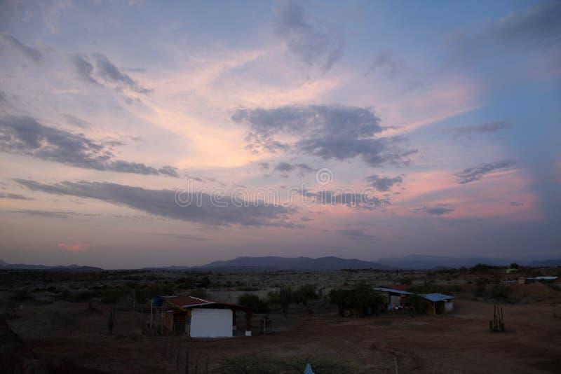 哥伦比亚沙漠 图库摄影