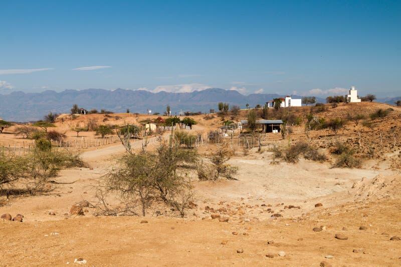 哥伦比亚沙漠tatacoa 免版税图库摄影
