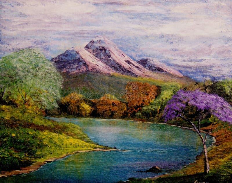 哥伦比亚河 免版税库存照片