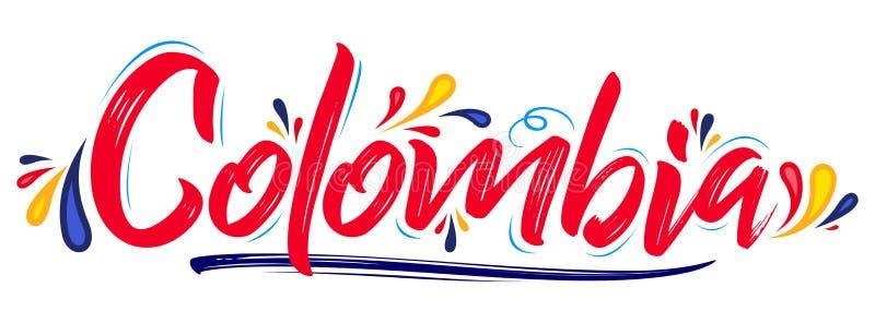 哥伦比亚爱国横幅设计哥伦比亚的旗子颜色传染媒介例证 皇族释放例证