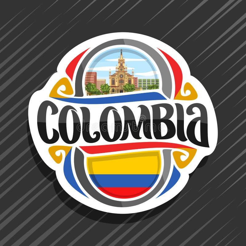 哥伦比亚的传染媒介商标 向量例证
