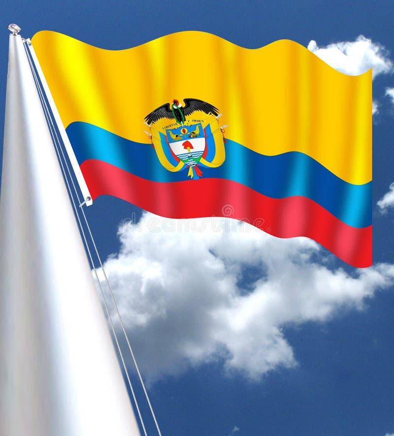 哥伦比亚的国旗被采取了1861年11月26日 向量例证