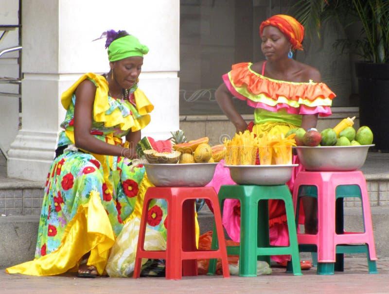 哥伦比亚的妇女 库存照片