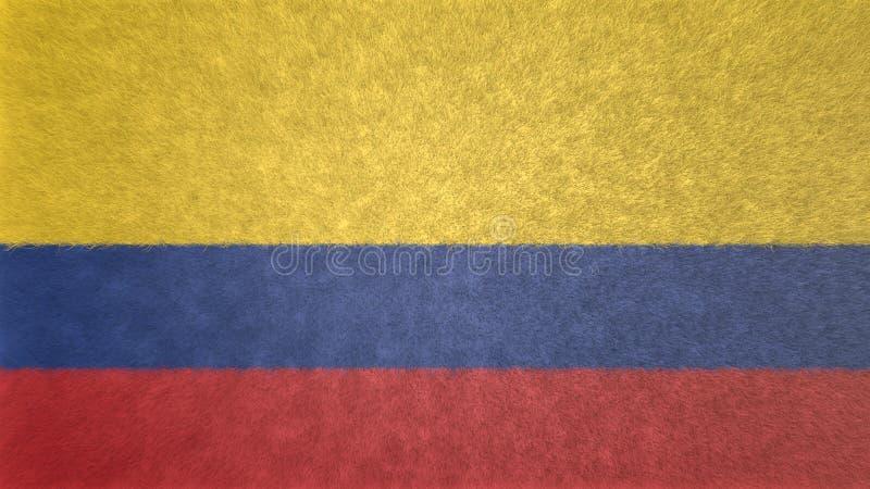 哥伦比亚的旗子的原始的3D图象 库存例证