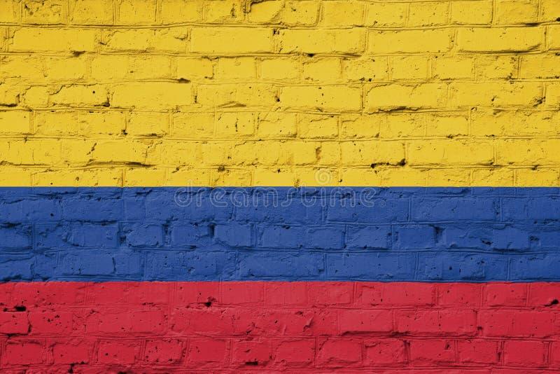 哥伦比亚的旗子的纹理 图库摄影