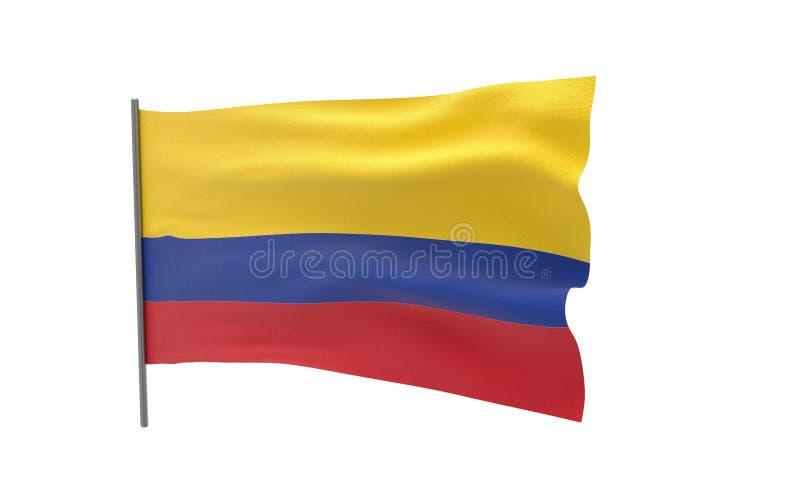 哥伦比亚的旗子 库存例证