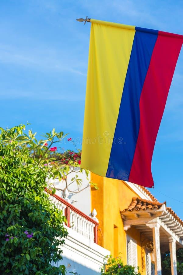哥伦比亚的旗子 库存图片