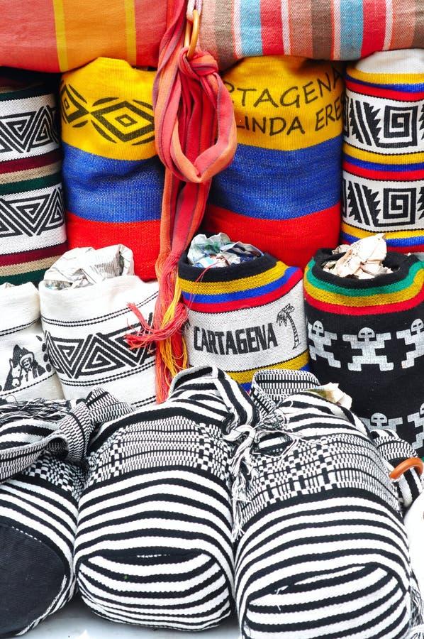 哥伦比亚的袋子 库存图片
