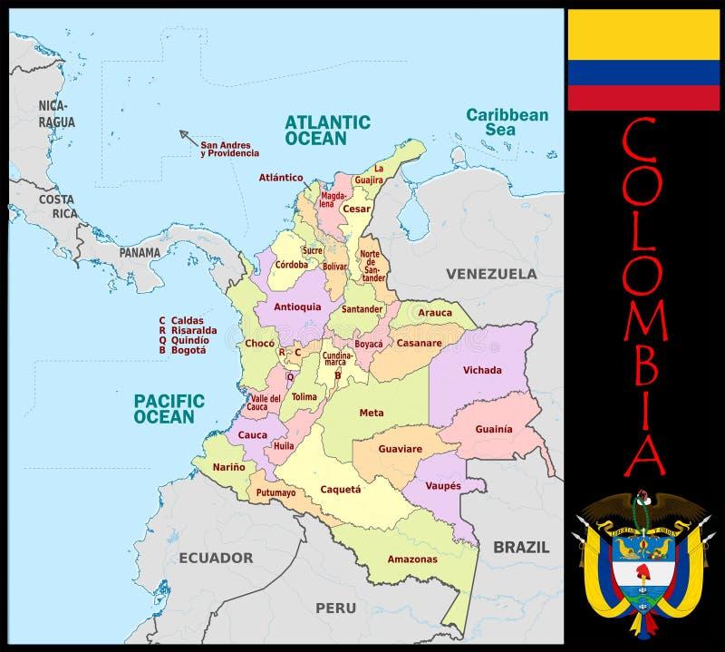 哥伦比亚管理部门 向量例证