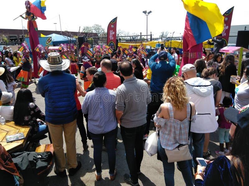 哥伦比亚舞蹈的观察 库存照片
