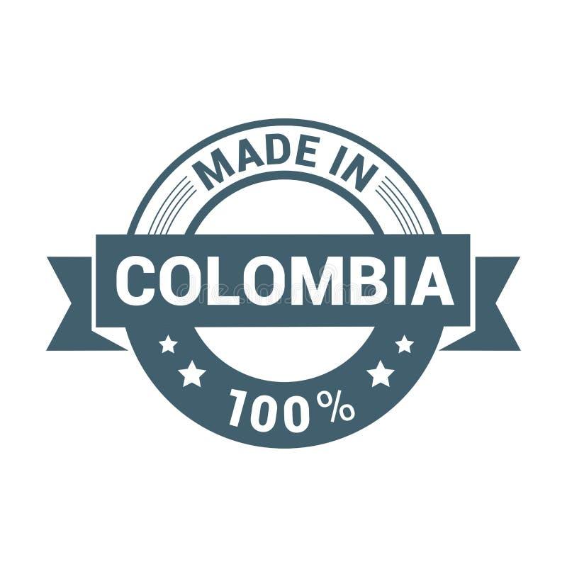 哥伦比亚邮票设计传染媒介 库存例证