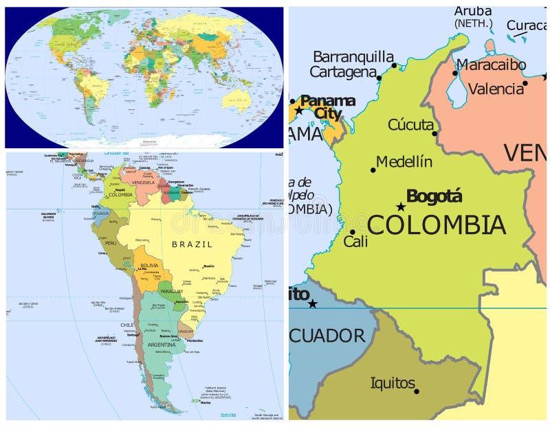 哥伦比亚&世界 皇族释放例证