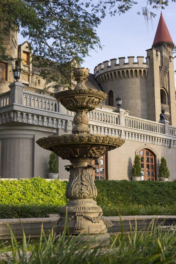 哥伦比亚-麦德林,安蒂奥基亚省- El卡斯蒂略、博物馆和庭院 免版税图库摄影