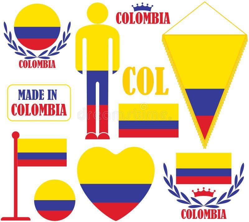 哥伦比亚 库存例证