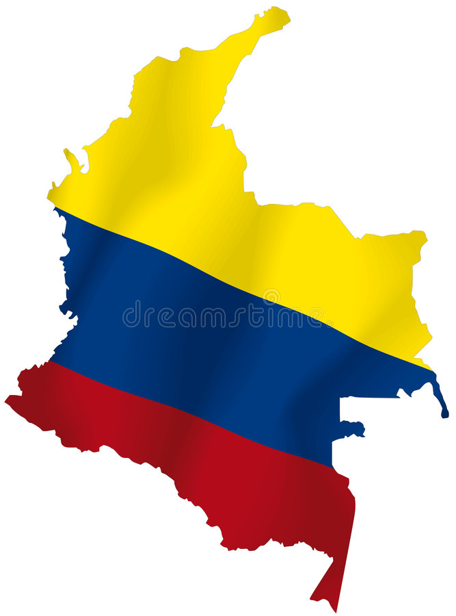 哥伦比亚 向量例证
