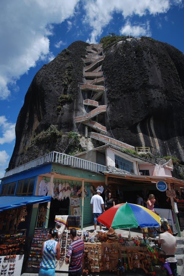 哥伦比亚el巨型独石ol pe 库存照片