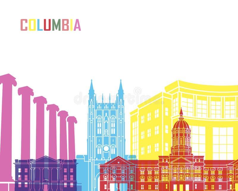 哥伦比亚MO地平线流行音乐 库存例证