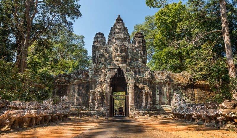 吴哥城门,暹粒,柬埔寨 库存图片
