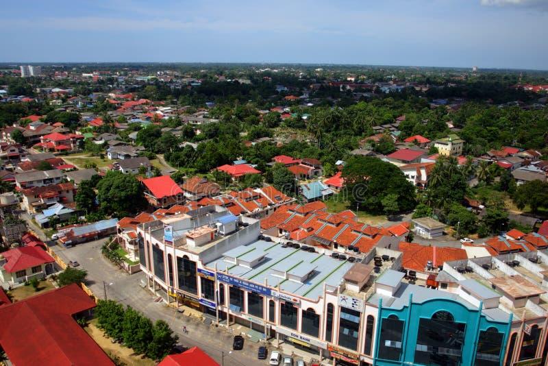 哥打巴鲁,吉兰丹,马来西亚地平线  免版税库存照片