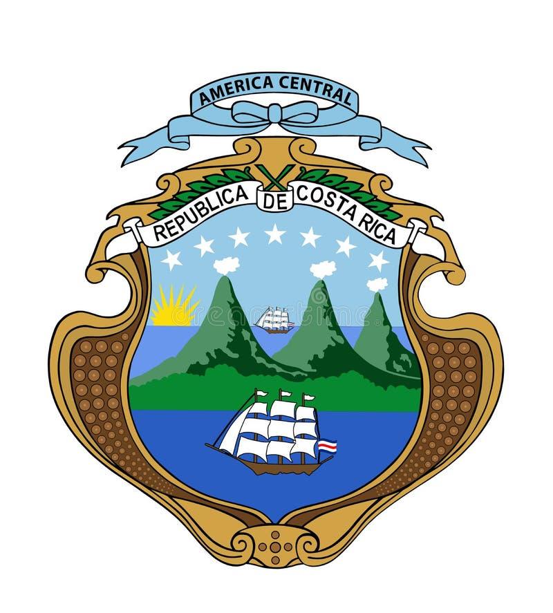 哥斯达黎加共和国徽章 库存例证