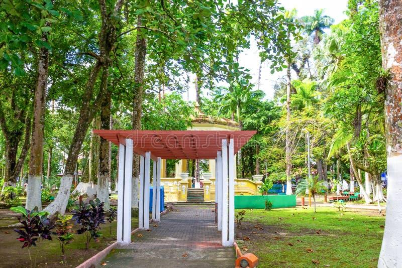 哥斯达黎加利蒙港城市公园瓦尔加斯公园 免版税库存照片