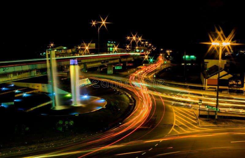 哥斯达黎加拥挤了环形交通枢纽 免版税库存照片