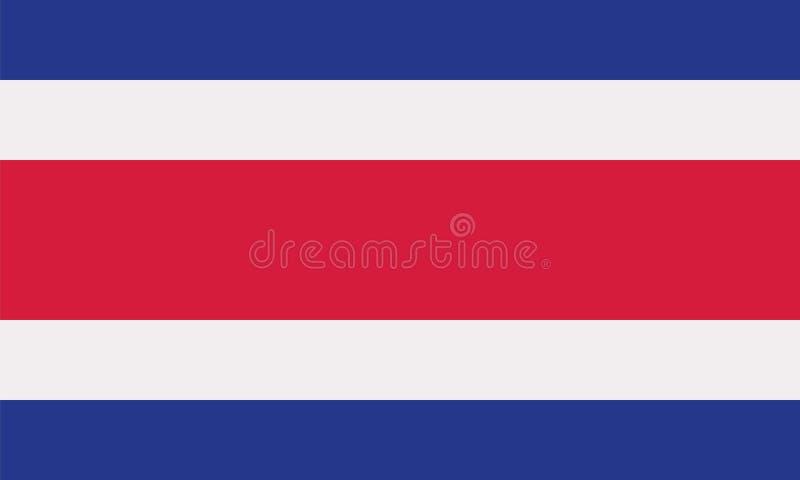 哥斯达黎加旗子 向量例证