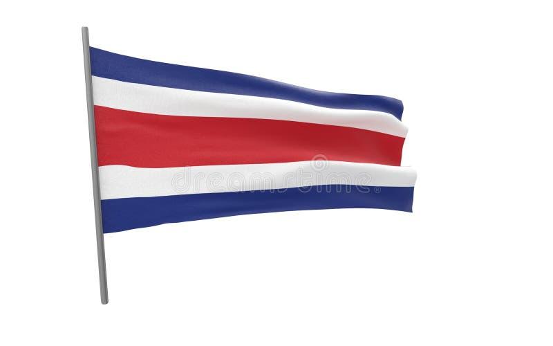 哥斯达黎加的旗子 皇族释放例证
