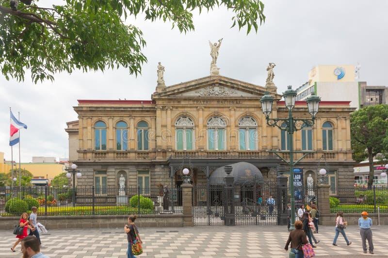 哥斯达黎加的国家戏院在圣何塞 库存照片