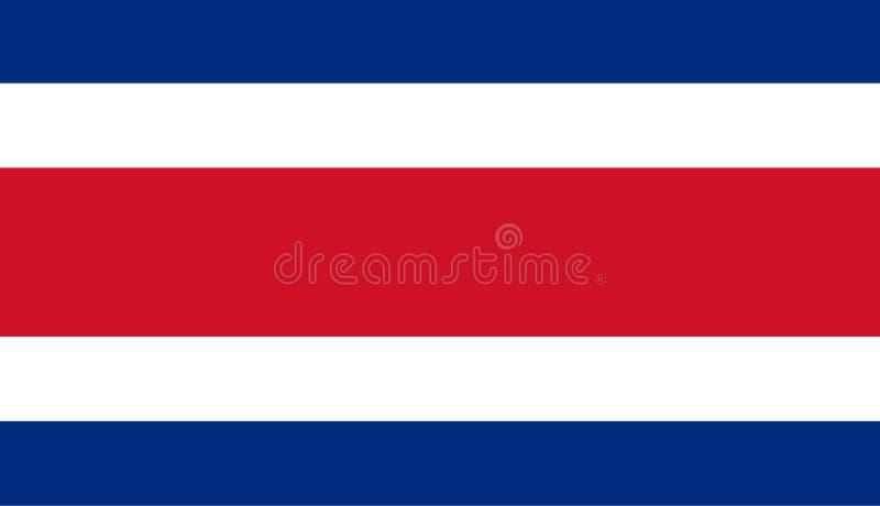 哥斯达黎加的色的旗子 向量例证