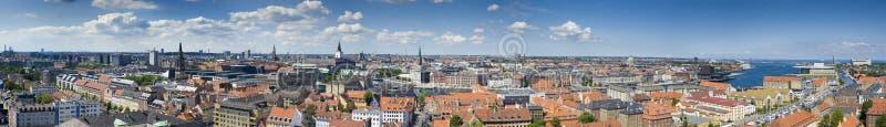 哥本哈根丹麦全景 免版税库存照片