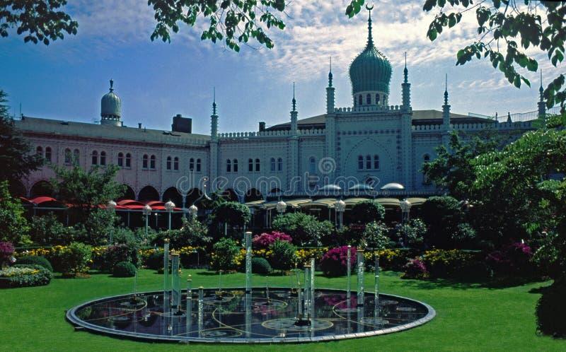 哥本哈根丹麦庭院tivoli 免版税库存图片