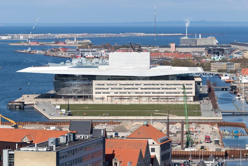 哥本哈根歌剧院 库存照片