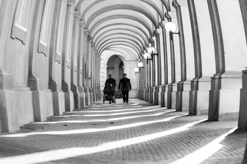 哥本哈根图书馆庭院 免版税库存照片