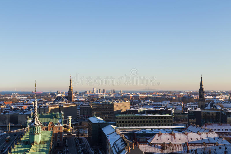 哥本哈根地平线视图 免版税库存图片
