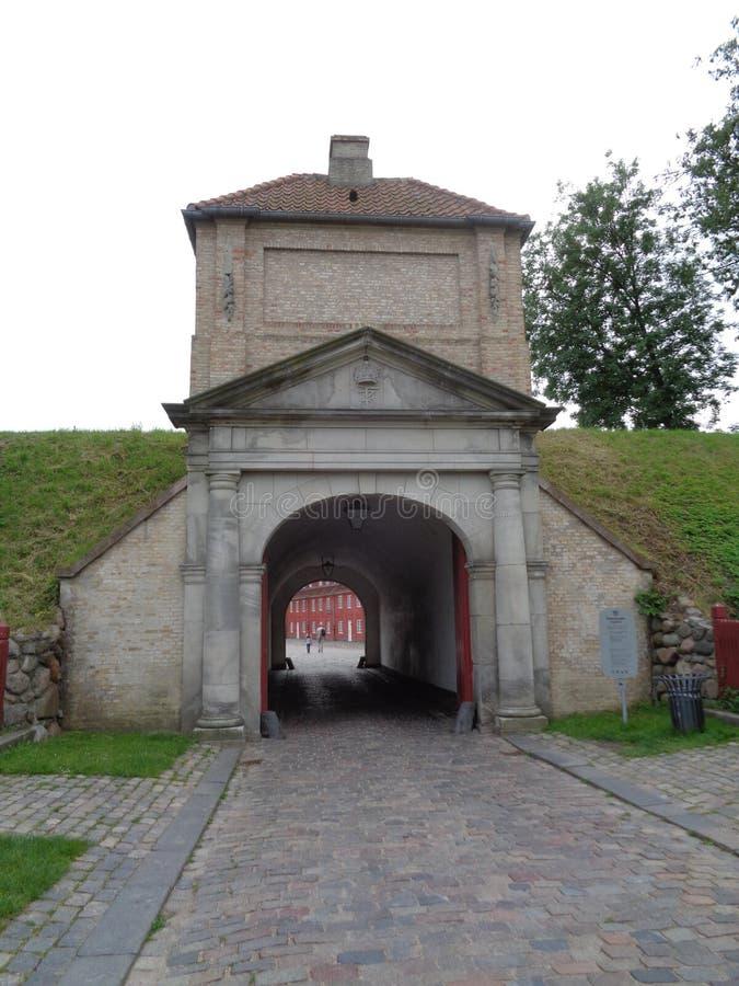 哥本哈根堡垒入口 免版税库存照片