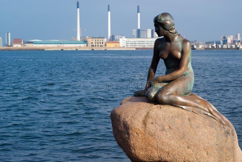 哥本哈根小的美人鱼 免版税库存照片