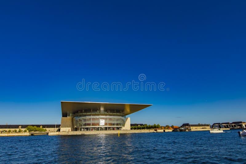 哥本哈根歌剧院在丹麦 库存图片