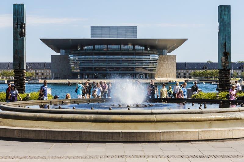 哥本哈根歌剧院 免版税库存照片