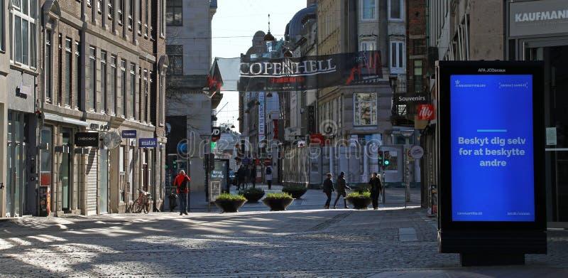 哥本哈根沃金斯特街 免版税库存照片