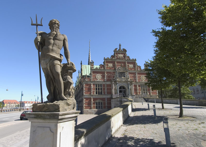哥本哈根海王星雕象 免版税库存图片
