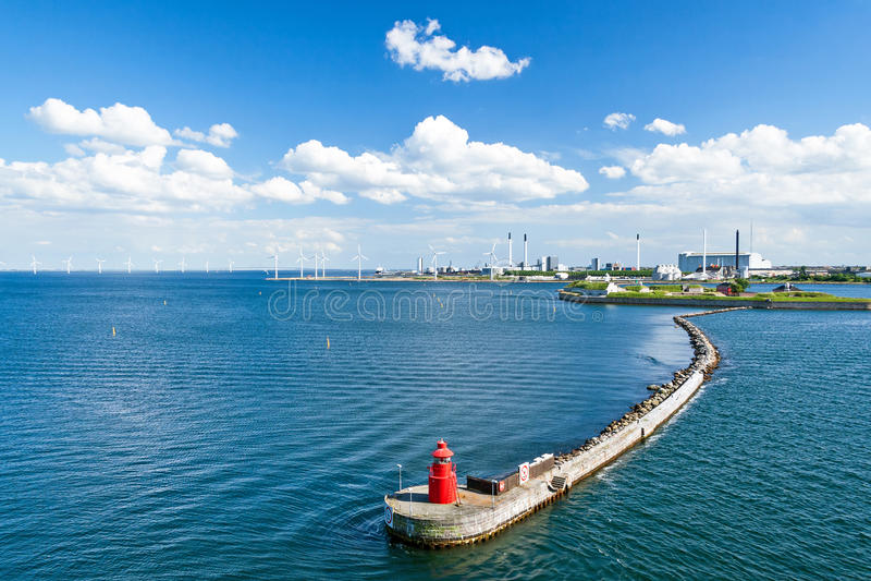 哥本哈根港口 免版税库存图片