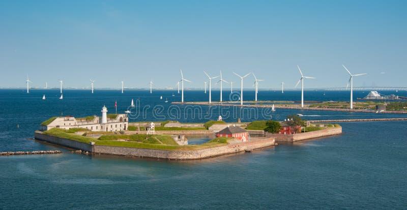 哥本哈根端口 免版税库存图片
