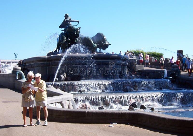 哥本哈根著名喷泉 免版税库存照片