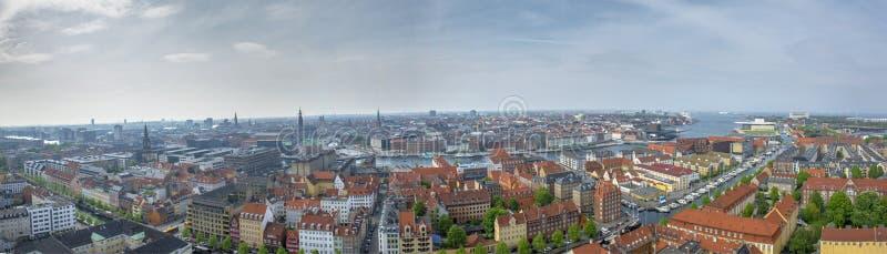 哥本哈根视图全景风景城市 免版税库存照片