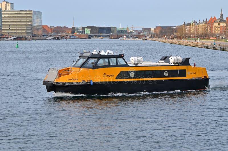 哥本哈根通勤者小船2 图库摄影