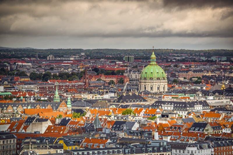 哥本哈根都市风景 免版税图库摄影