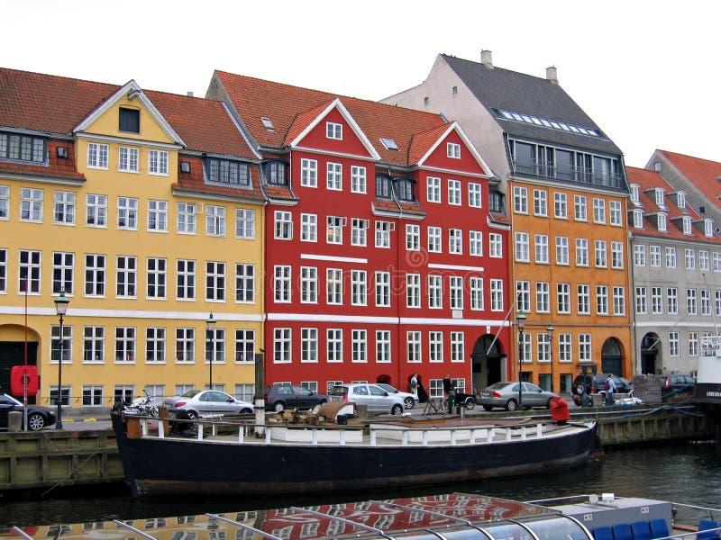 哥本哈根-江边运河 库存图片