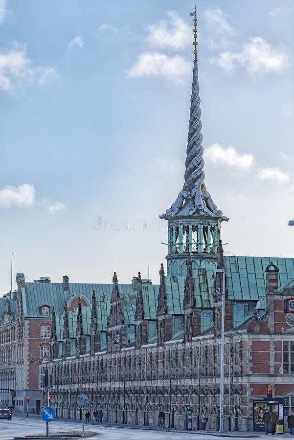 哥本哈根Borsen联交所大厦 免版税库存图片