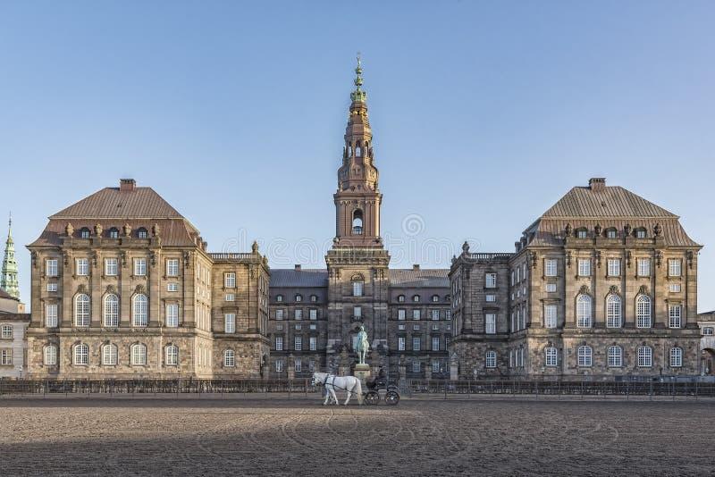 哥本哈根Christianborg宫殿 库存图片